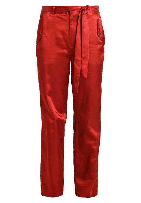 Scotch & Soda Leg With Flap Pocket And Shell Fabric Tie Pantalón De Tela Terracotta de Zalando en 21 Buttons