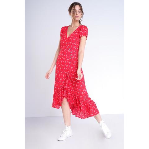 beaucoup de choix de pas mal aspect esthétique Robe Longue Rouge Femme from Bonobo on 21 Buttons