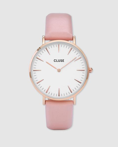 Cluse - Reloj De Mujer De Piel Rosa