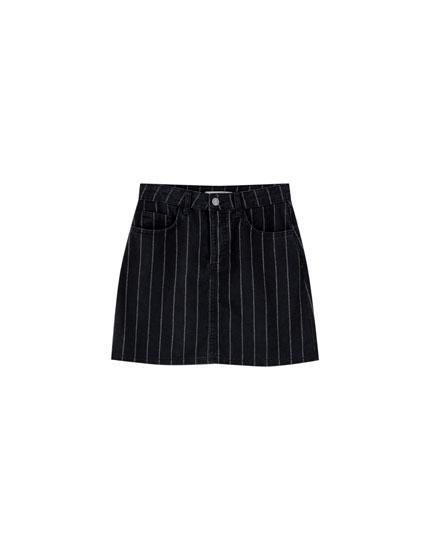 Minifalda Denim Rayas