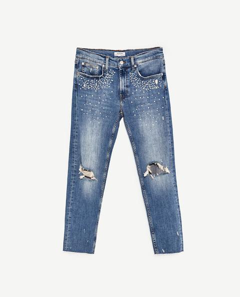 Jeans Slim Fit Boyfriend Perlas