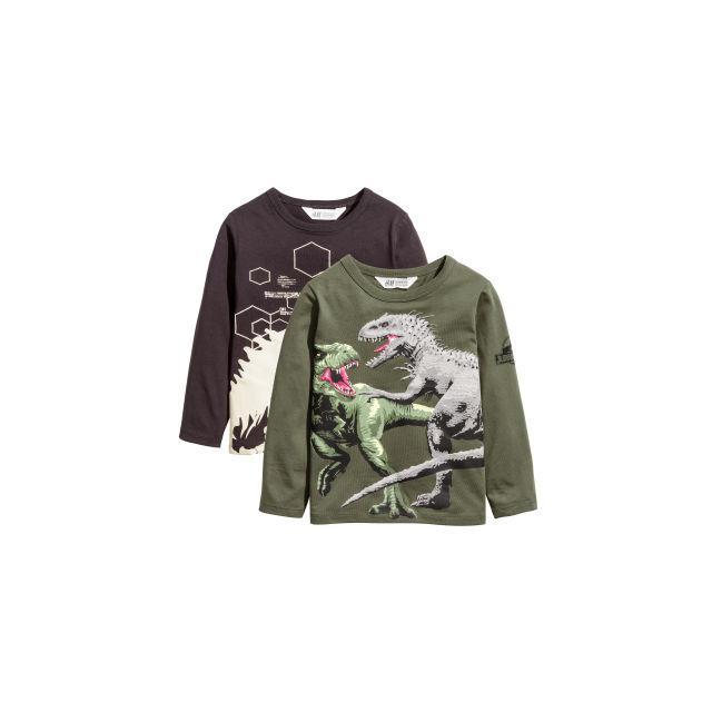 100% autenticado compra venta boutique de salida H & M - Pack De 2 Camisetas De Punto - Verde from H&M on 21 Buttons