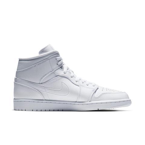Scarpa Air Jordan 1 Mid Uomo Bianco di Nike su 21 Buttons