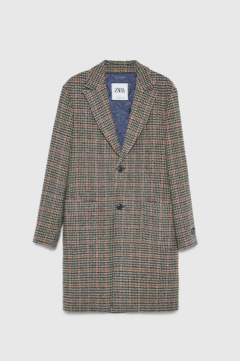 Abrigo Cuadros Textura de Zara en 21 Buttons