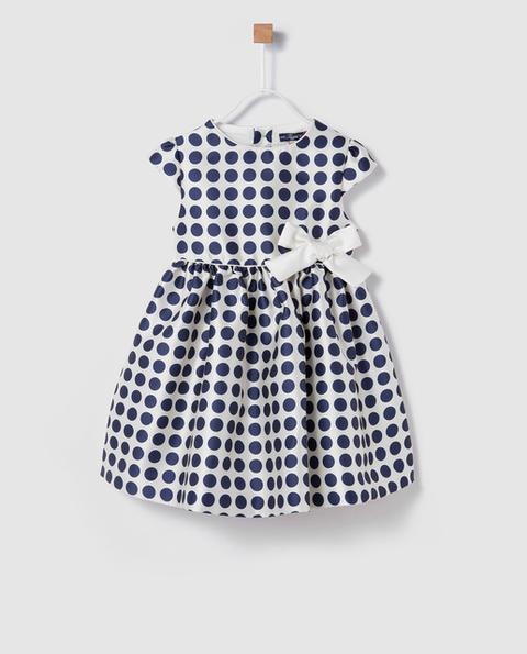 Tizzas - Vestido De Niña Bitono Con Topos de El Corte Ingles en 21 Buttons