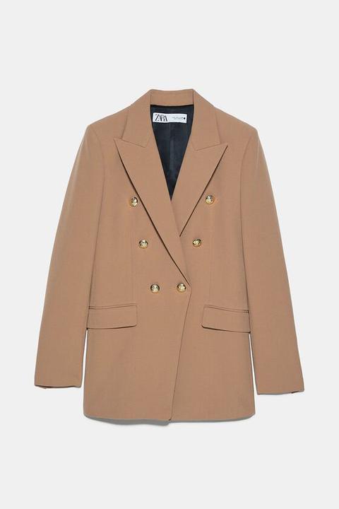 Blazer Cruzada Botones de Zara en 21 Buttons