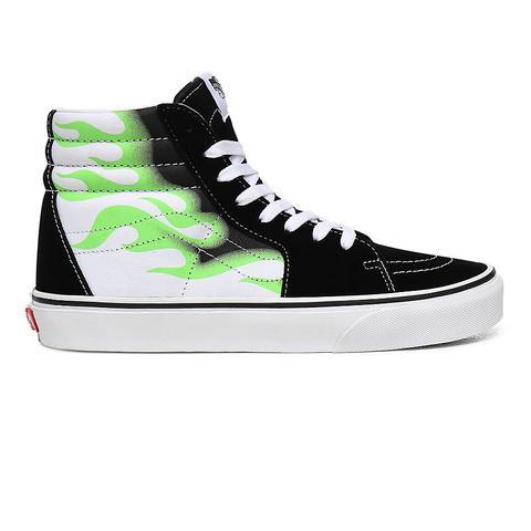 Vans Zapatillas Flame Sk8-hi ((flame) Black/true White) Mujer Verde de Vans en 21 Buttons