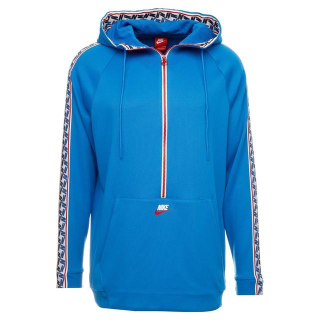 di buona qualità ben noto nuovo prodotto Nike Sportswear Taped Half Felpa Con Cappuccio Blue/gym Red ...