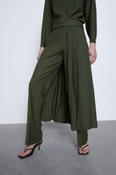 Pantalón Falda Plisada