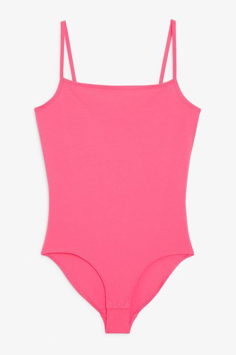 Spaghetti Strap Body - Pink