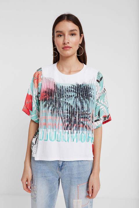 Camiseta Hawaiana Con Flecos de Desigual en 21 Buttons