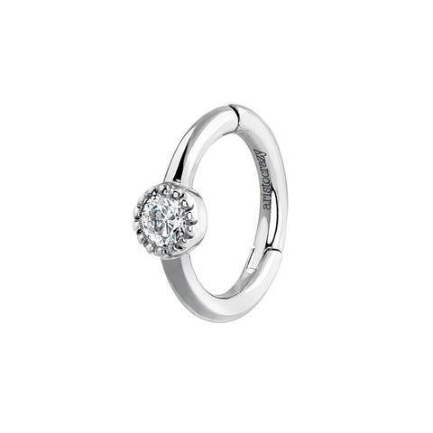 Pendiente Piercing Diamante Oro Blanco 0,014 Ct