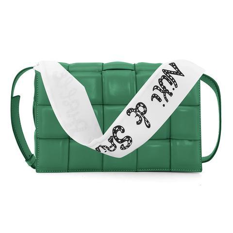 Fleca Braided Leather Cross Body Bag - Large