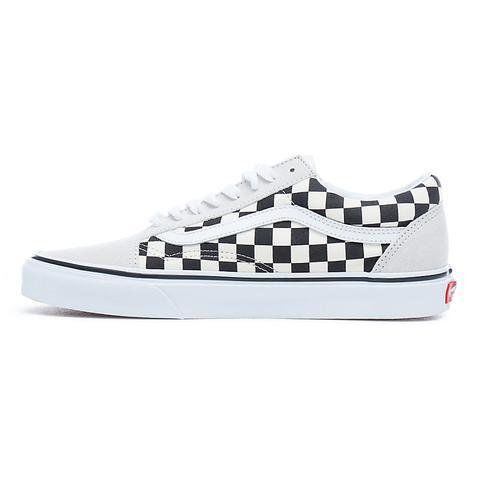 Vans Zapatillas Old Skool ((checkerboard) White/black) Mujer Negro