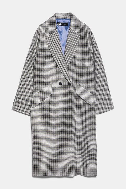 Abrigo Masculino Estampado de Zara en 21 Buttons