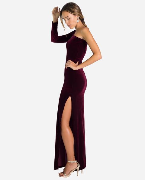 Vestido Gala Velvet · Burdeos de THE-ARE en 21 Buttons