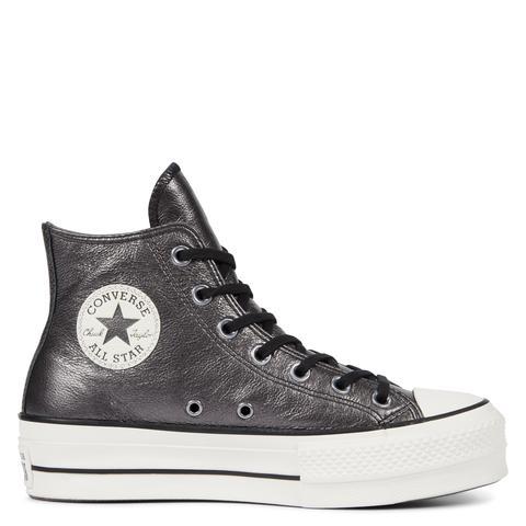 Star Lift Metallic Leather High Black