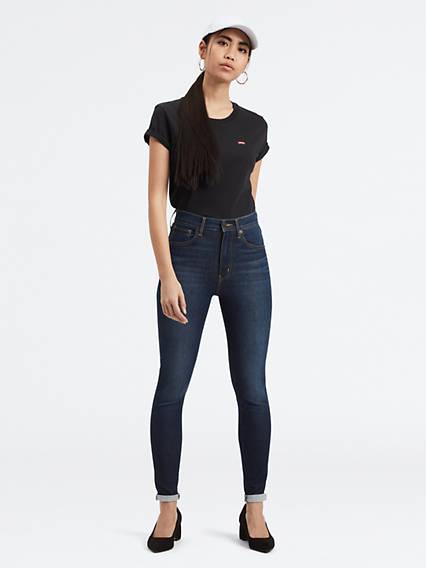 Mile High Super Skinny Jeans Negro / On The Rise de Levi's en 21 Buttons