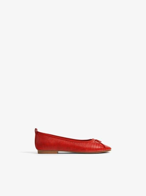 Buttons Troquelado De Zapato 21 Piel Zara En yv8nwmO0PN