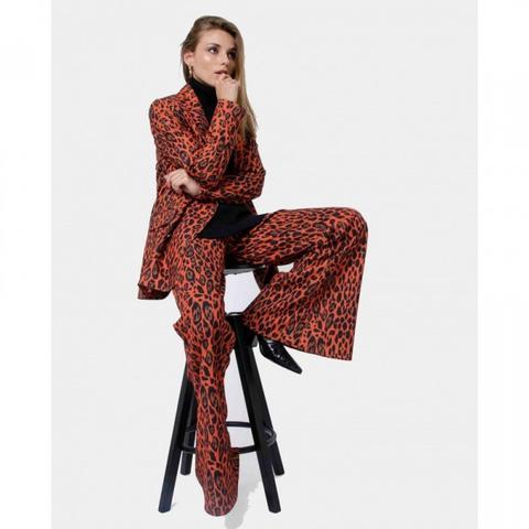 Pantalón Campana Print Leopardo