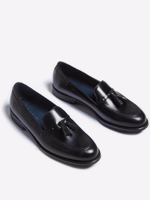 Zapato Vestir Borlas Negro Mate de Silbon en 21 Buttons