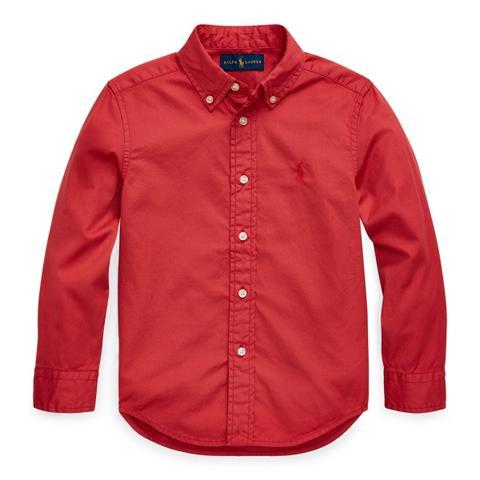Camisa De Sarga Teñida En Prenda de Ralph Lauren en 21 Buttons