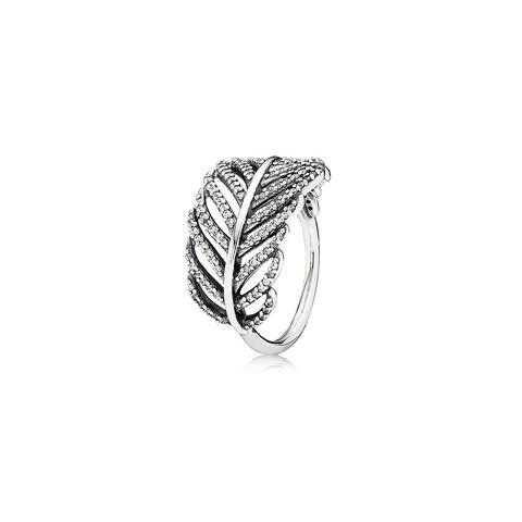 Silver Ring With Micro Bead-set Cubic Zirconia de Pandora en 21 Buttons