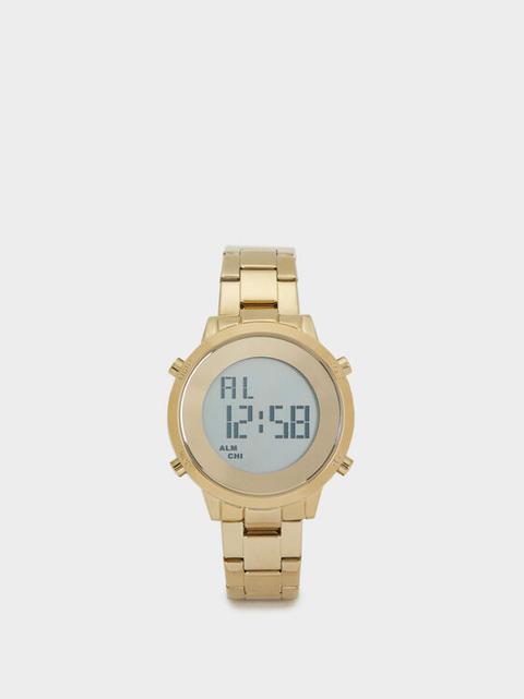 Reloj Digital Correa De Acero de Parfois en 21 Buttons
