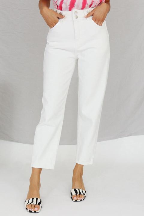 Bucket List Jeans // White