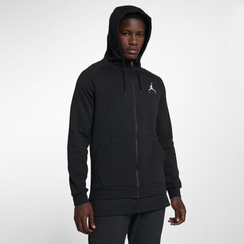 Jordan Jumpman Sudadera Con Capucha De Tejido Fleece Con Cremallera Completa - Hombre - Negro