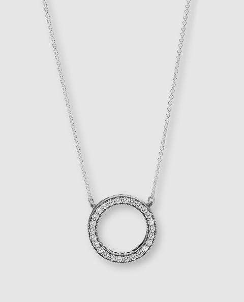 Pandora - Collar Círculo De Plata Con Circonitas de El Corte Ingles en 21 Buttons
