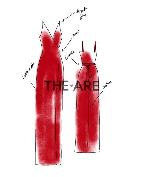 Vestido Camille · Rojo