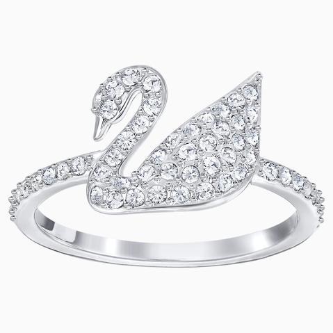 Anillo Swarovski Iconic Swan, Blanco, Baño De Rodio de Swarovski en 21 Buttons