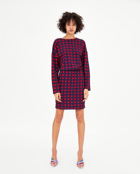 Topos From Buttons On Zara 21 Vestido OiPkZuX
