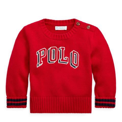 Jersey De Algodón Con Cuello Redondo Polo de Ralph Lauren en 21 Buttons
