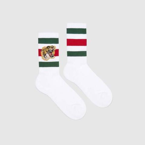 Calcetines De Algodón Elástico Con Tigre
