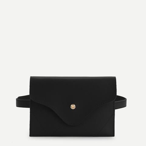 Flap Pu Bum Bag