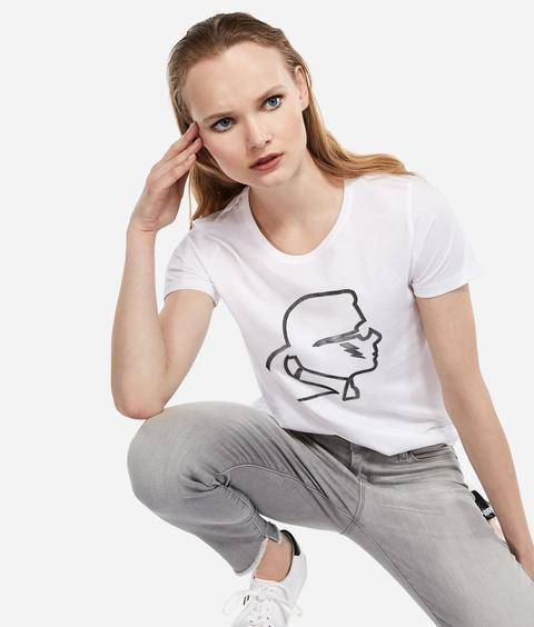 K/ikonik T-shirt Mit Print from Karl Lagerfeld on 21 Buttons