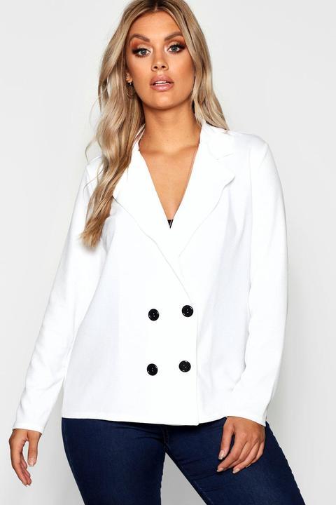 Plus Tailored Button Blazer