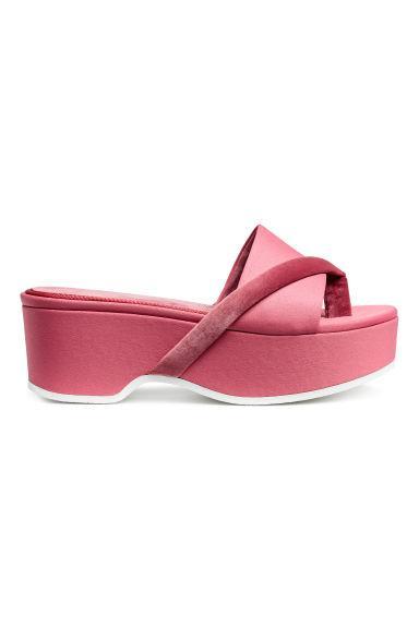 Sandalias Con Plataforma - Rojo de H&M en 21 Buttons