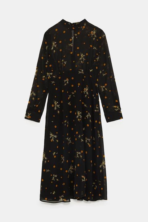info for bc8f2 14e02 Vestito Fantasia A Fiori E Pois from Zara on 21 Buttons
