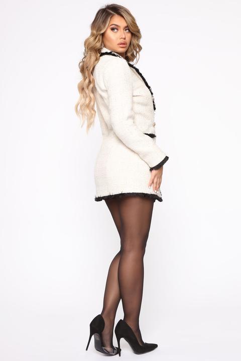 Queen Boss Blazer Mini Dress - Ivory