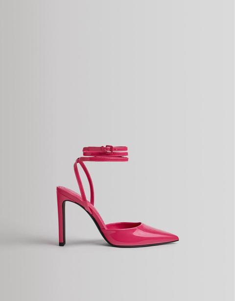 Zapato Tacón Destalonado Brillo
