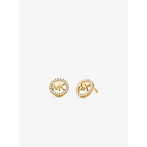 Pendientes De Tuerca De Plata De Ley Con Chapado En Metales Preciosos Incrustaciones Y Logotipo de Michael Kors en 21 Buttons