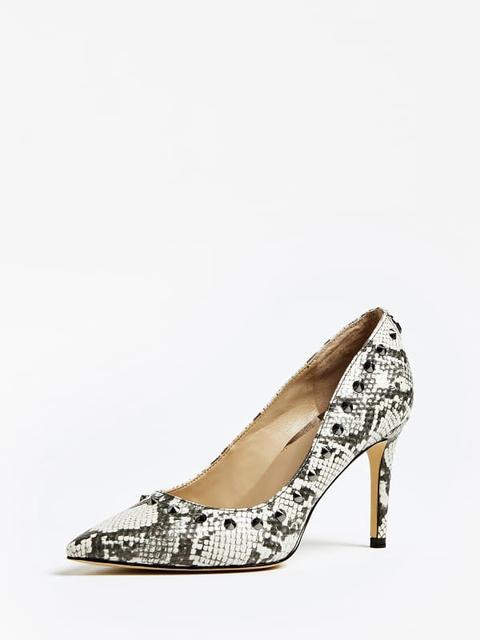 Zapato De Salón Boldena Estampado Pitón Tachuelas