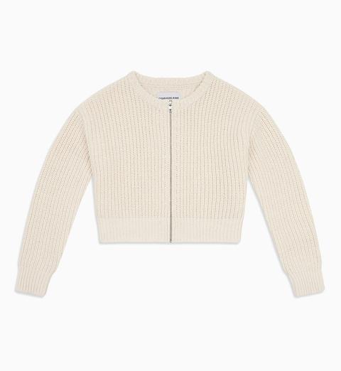 Cárdigan Cropped Con Cremallera de Calvin Klein en 21 Buttons