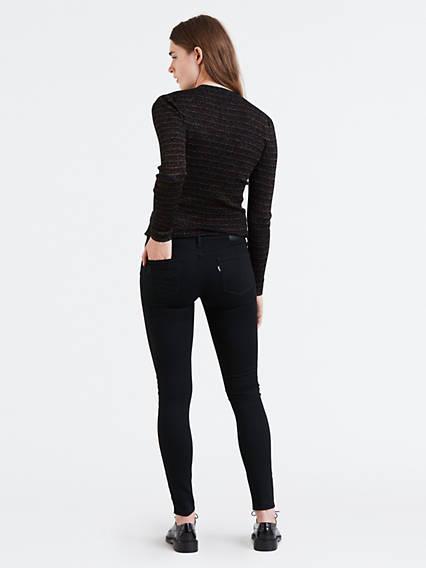 710™ Innovation Super Skinny Jeans Negro / Black Galaxy