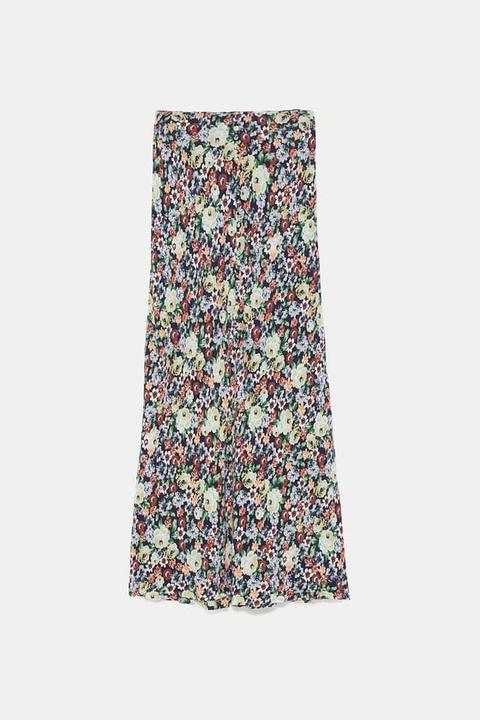 Falda Estampado Floral from Zara on 21 Buttons