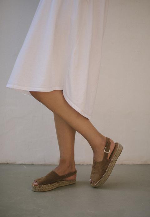 Back Strap Camel de Alohas Sandals en 21 Buttons