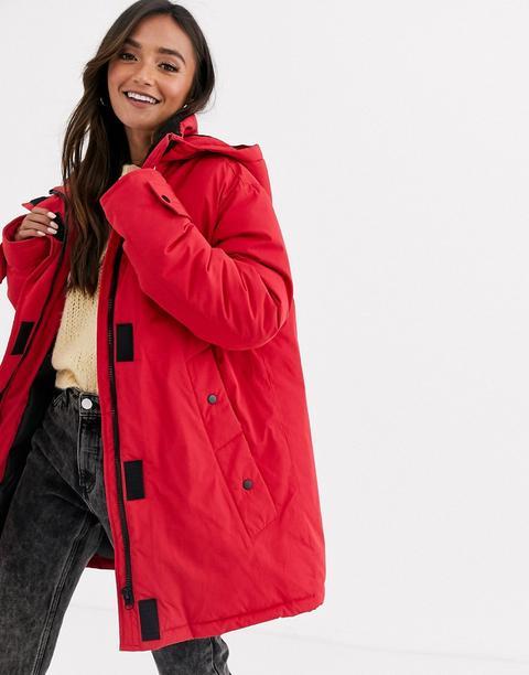 Anorak Rojo Con Forro De Borreguito De Asos Design de ASOS en 21 Buttons